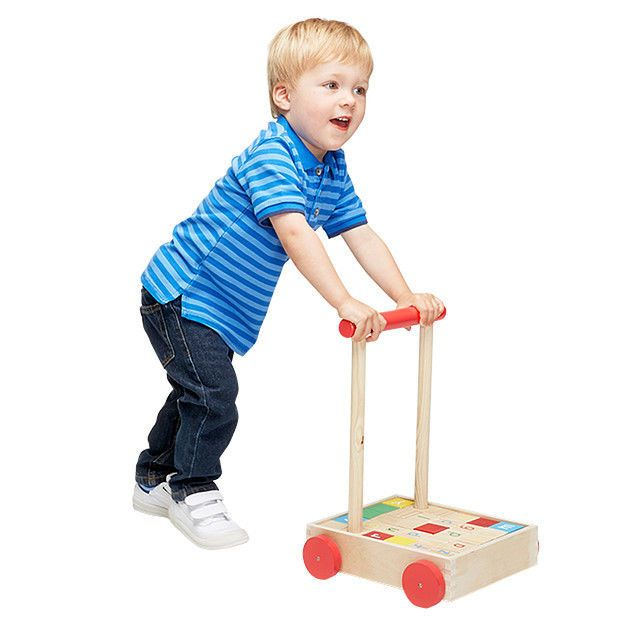 NEW Young Ones Wooden Blocks Trolley