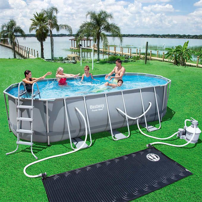 Bestway Power Steel Oval Pool Set With Images Oval Pool Pool
