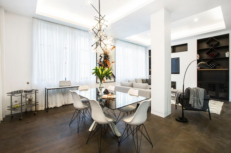 Andy + Ben's Living + Dining Space - just divine!
