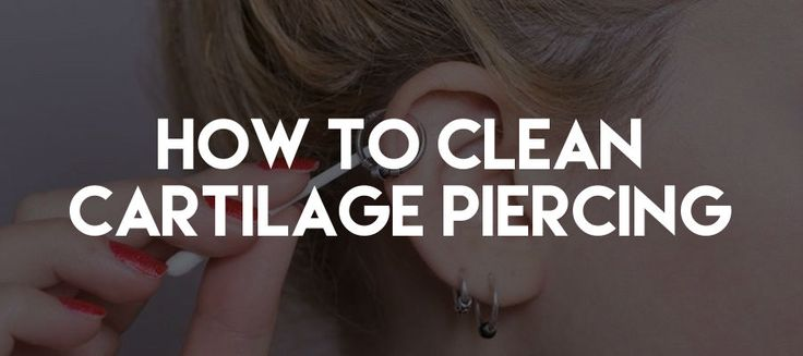 how to clean ears after piercing