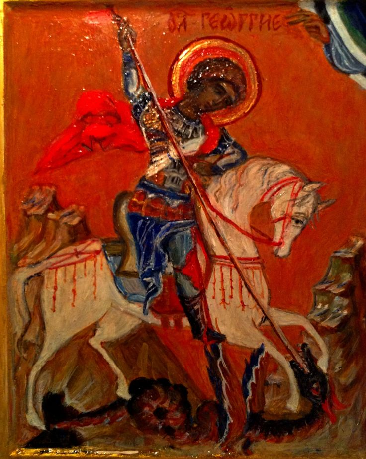 Saint George. Painted by myself for order