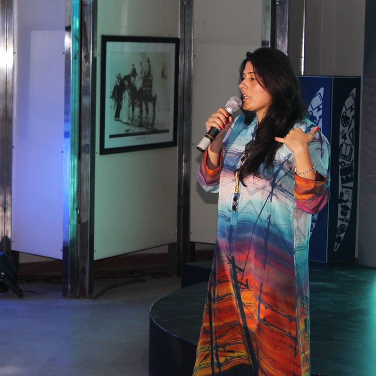 Sharmeen Obaid Chinoy speaking at the session 'Telling the Innovation Story: Why Doing is not Enough'
