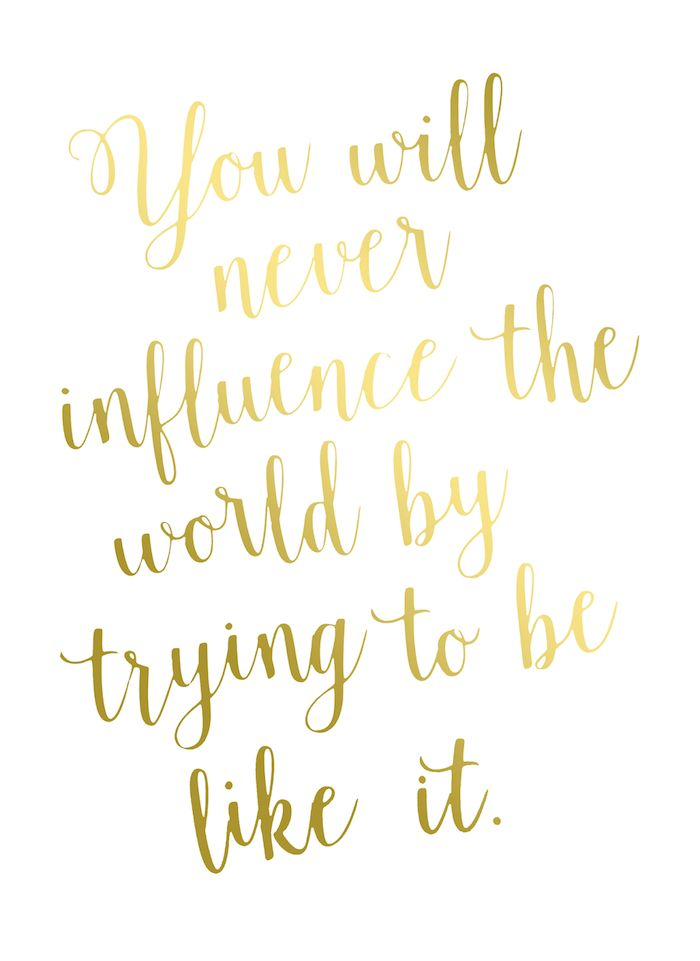 Gorgeous Quote Gold Foil Print