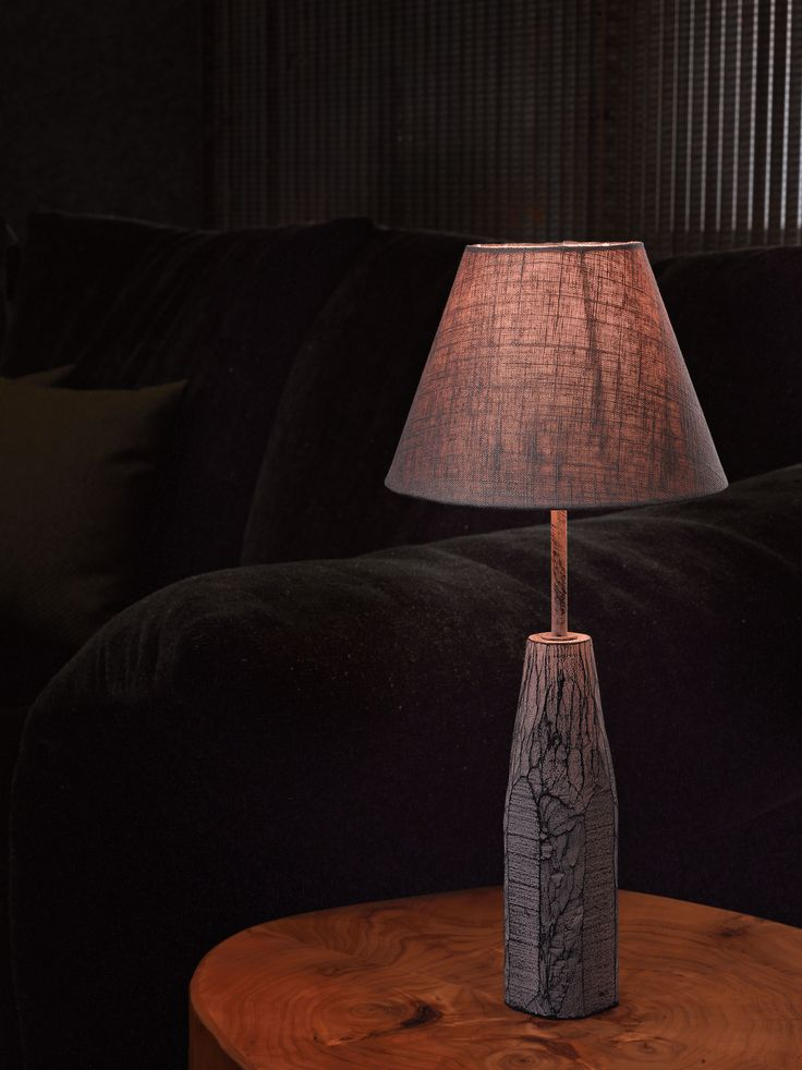 Eglo Lighting Vintage Collection / Wood & Patina Grey Table Lamp