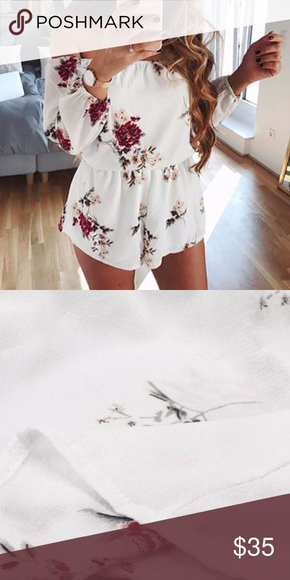 Floral Romper Super cute Floral Romper size medium, Flash Sale Boutique Pants Jumpsuits & Rompers