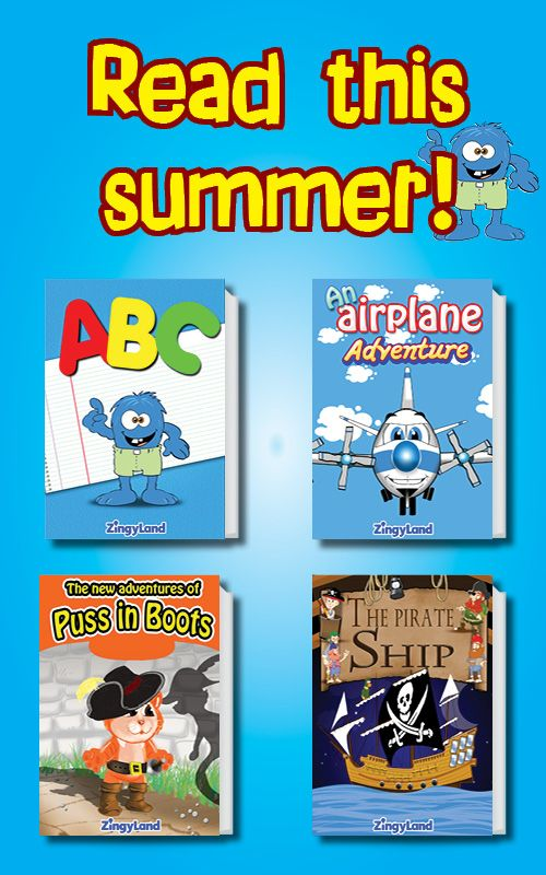 More than 50 stories in 4 languages. This summer all kids read interactive books and play with the free games from ZingyLand!