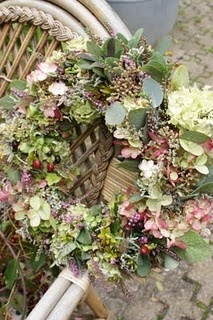 Muted summer floral wreath