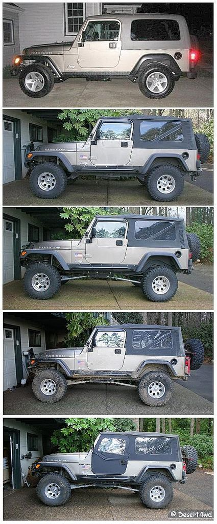 Progression Compari$on 2005 Jeep Wrangler Rubicon Unlimited TJ LJ | Flickr - Photo Sharing!