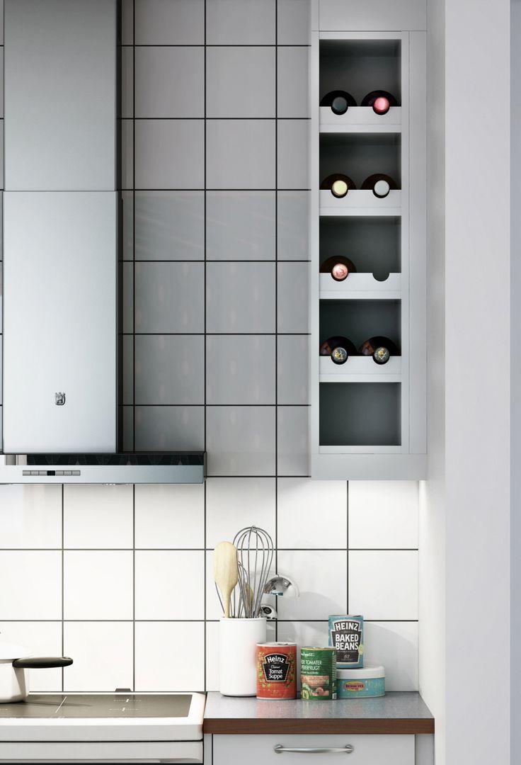 Marbodal Arkitekt plus ljusgrå closeup Vinställ