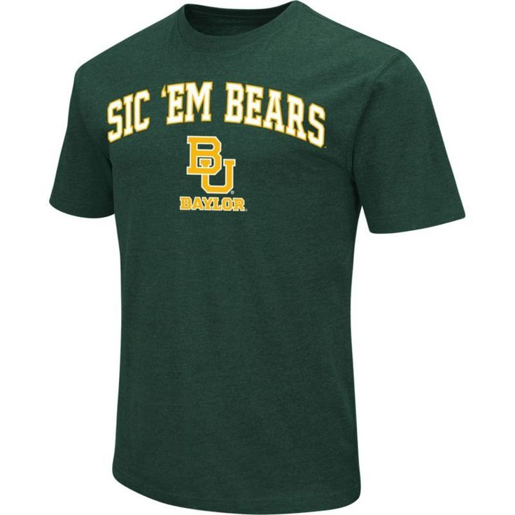 Colosseum Athletics Men's Baylor Green Team Slogan T-Shirt, Size: Medium