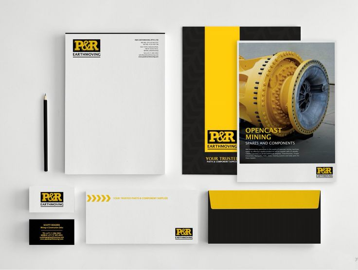 Corporate stationery. Black and yellow. www.missrubydesigns.co.za
