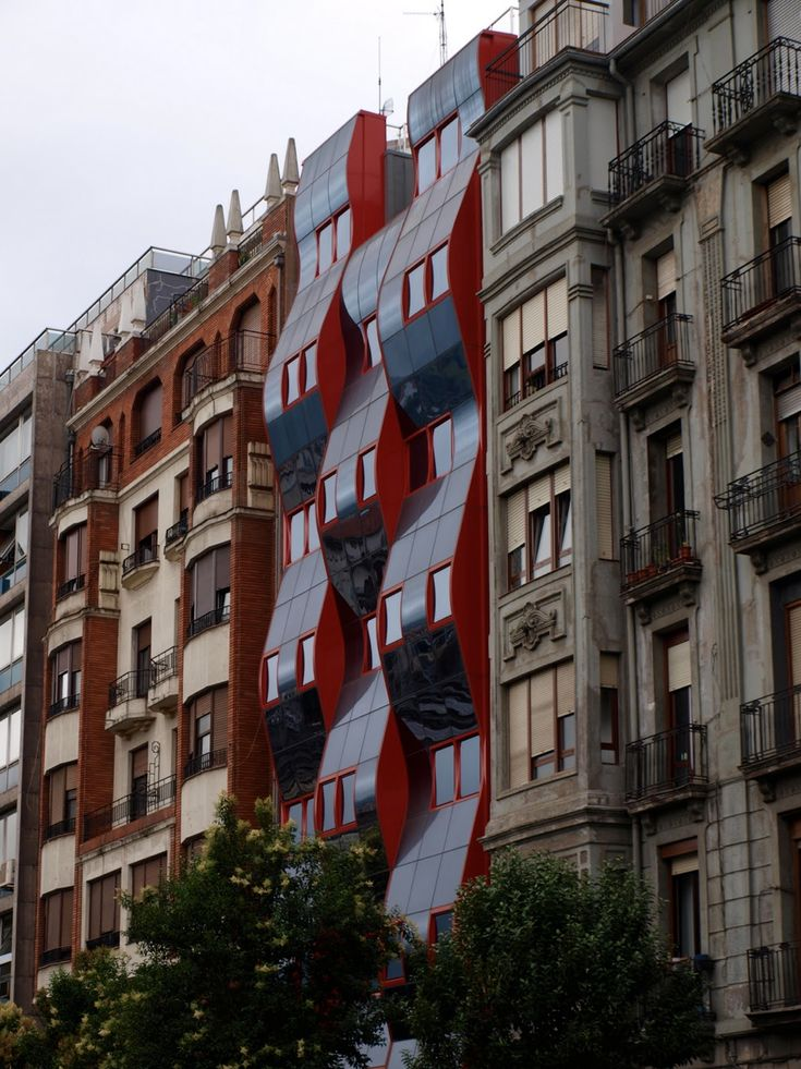 Harmony of Old and New in Bilbao, Spain by Knowlton Thomas.