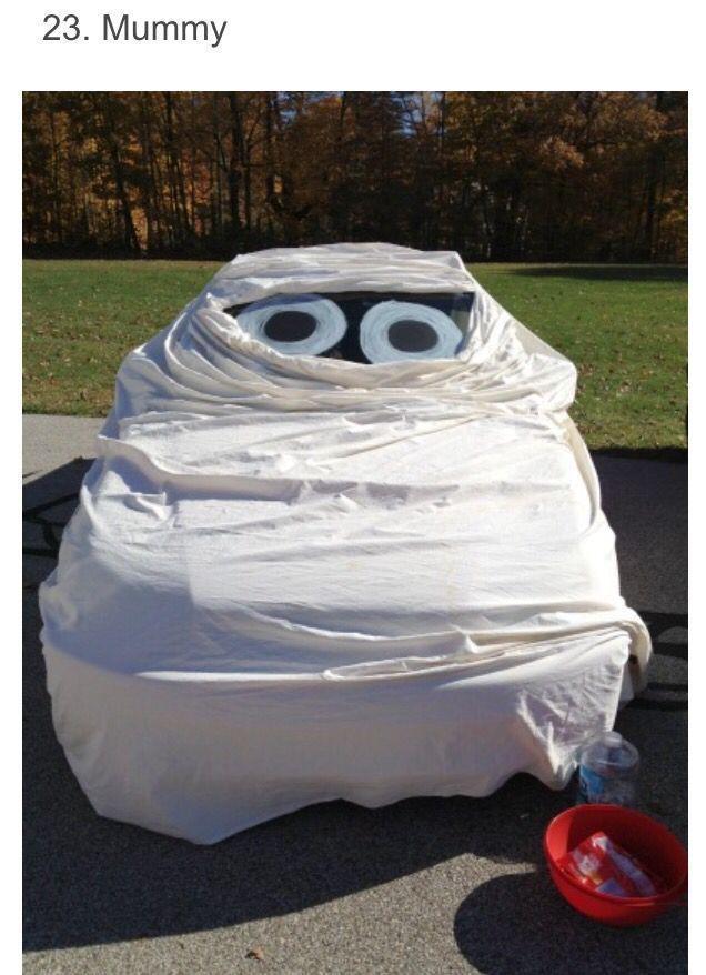 trunk or treat decorating ideas mummy car - Halloween Car Decoration Ideas