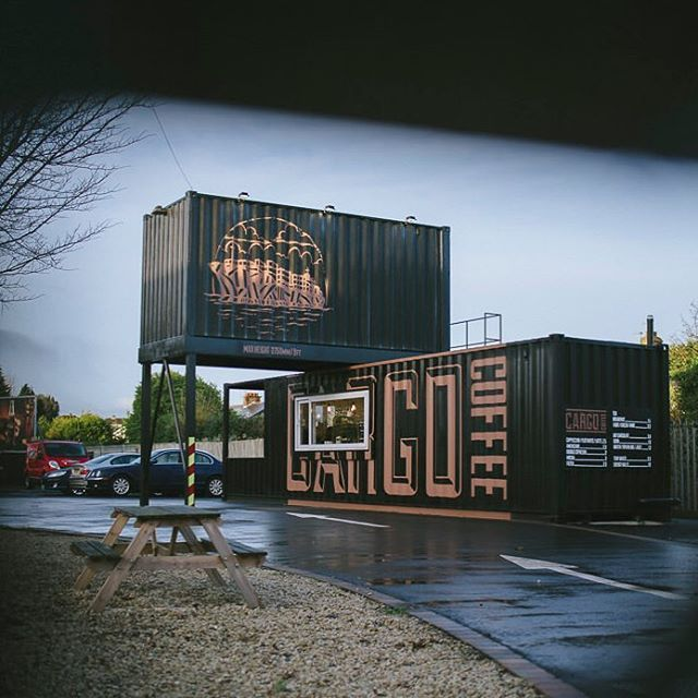 Cargo Coffee Was Voted Best Use Of A Shipping Container For 2018 By Me What A Great Dr Container Coffee Shop Food Truck Design Interior Drive Thru Coffee