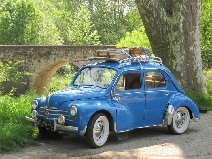 Renault 4cv, little french classic car.  I would pootle around French country lanes in this so happily.