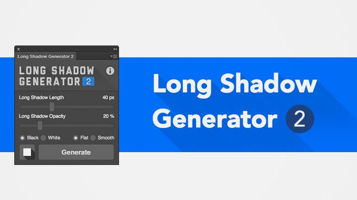 Plugin Effet Long Shadow Pour Photoshop Long Shadow Photoshop Tutorial Graphics Cool Photoshop