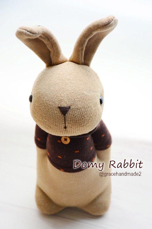 Grace--#385 sock Domy Rabbit