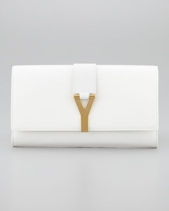 YSL Cabas Chyc clutch bag in off white - Neiman Marcus | HANDBAGS ...