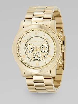 michael kors i wannnneeeeet,: Kors Oversized, Gold Watch, Style, Michael Kors, Chronograph Watch Goldtone, Jewelry, Oversized Chronograph, Watches, Michaelkors