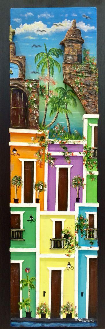 Artesanias de Puerto Rico capilla del Cristo garita casitas del viejo San Juan Puerto Rico art and crafts
