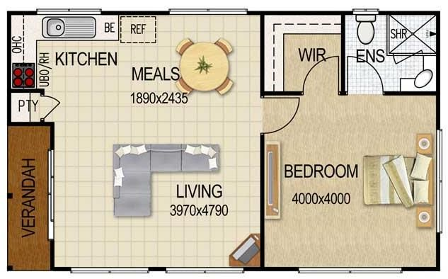 Plano de departamento de 36 metros cuadrados caba as for Cuarto de 10 metros cuadrados