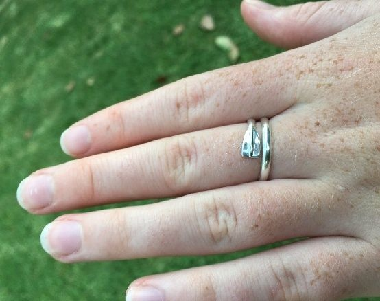 Ring - ROWING OAR - Sterling Silver or 9ct Gold