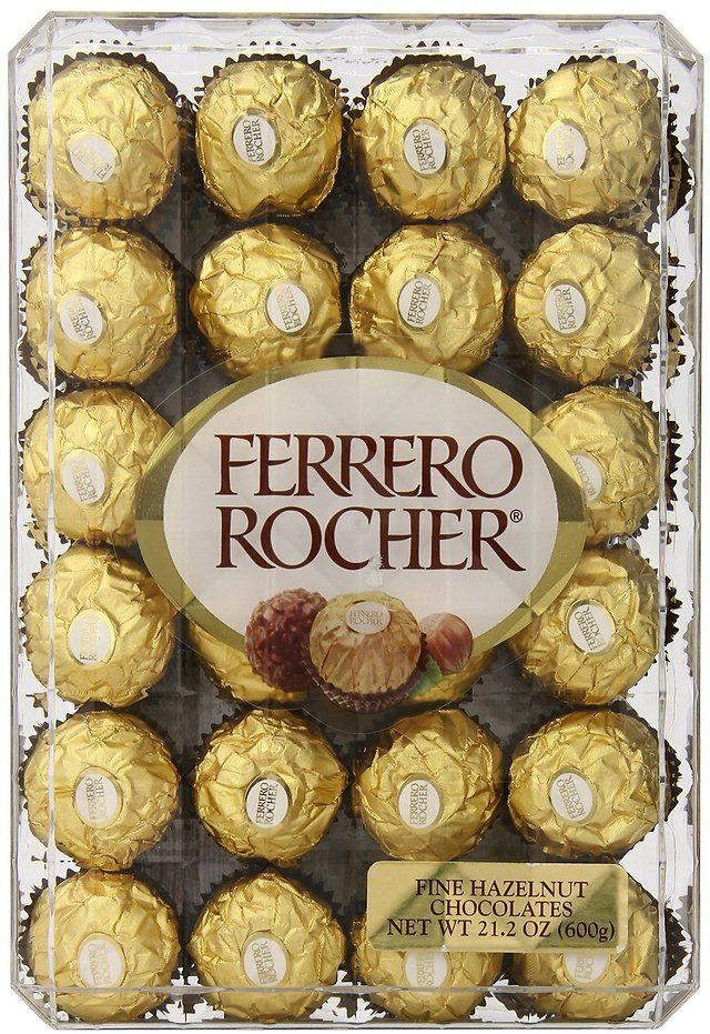 Any count will do for me :)   48-Count Ferrero Rocher Hazelnut Chocolates Gift Box $8.62 (amazon.com)
