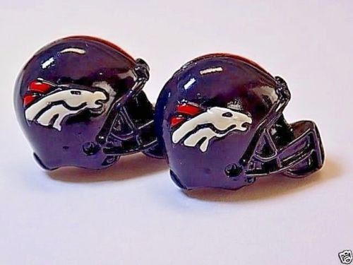 Handmade Denver Broncos NFL Resin Football Helmet Cufflinks, W/Gift Box & Free Shipping! by PastnPresentGifts on Etsy