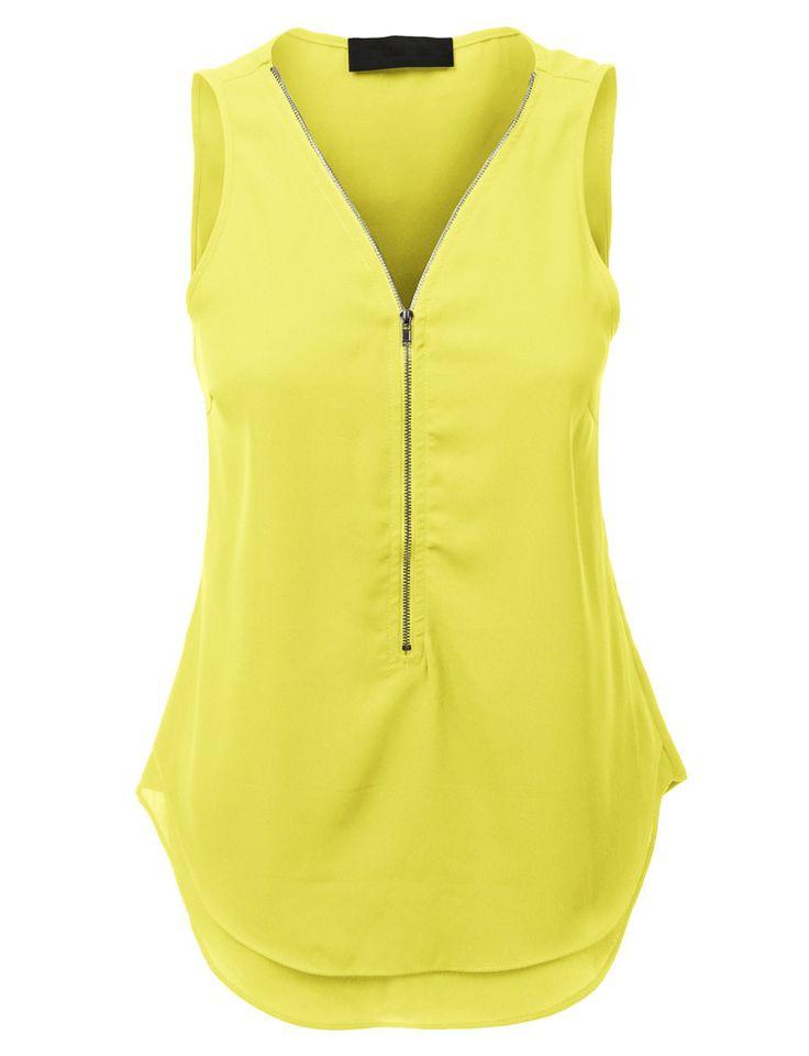 Women s sleeveless button up shirts blouses breeze clothing for Sleeveless dress shirt womens