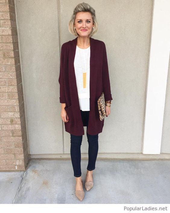 love this whole look for work! i need all the long cardis for leggings
