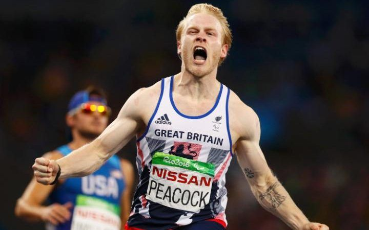 September 10 2016 - Jonnie Peacock wins T44 100m gold medal at Rio2016 Paralympic Games, Team GB's seventh so far