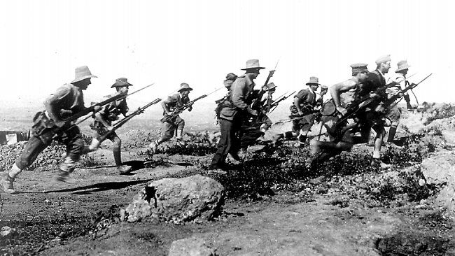Australian Soldiers on Anzac Cove 1915