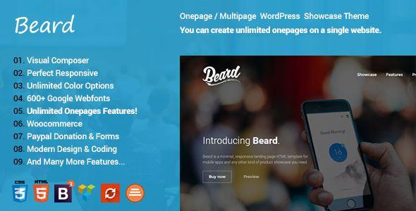 Beard Multipurpose Onepage   Multipage Responsive WordPress Theme