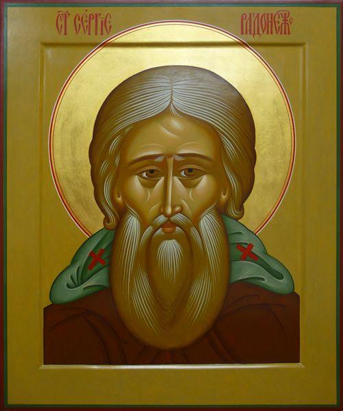 MIC icona russa.  Acquista icona Sergio di Radonez