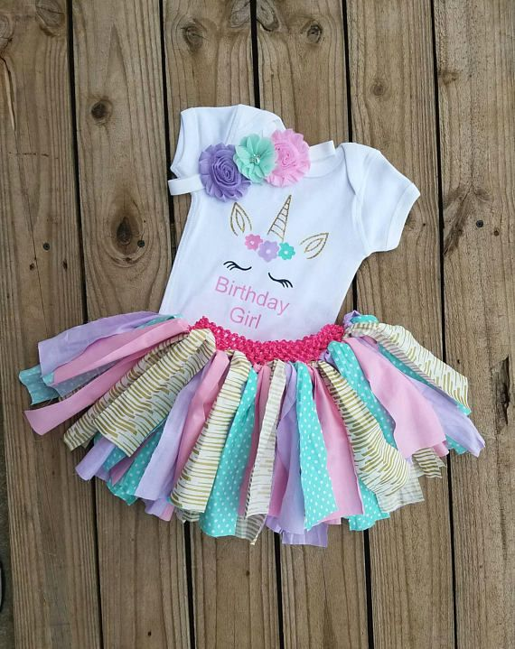 f9fb46fb8e48a Unicorns Girls Birthday Outfit, Horses Smash Cake Photo Prop, 1 2 3 ...