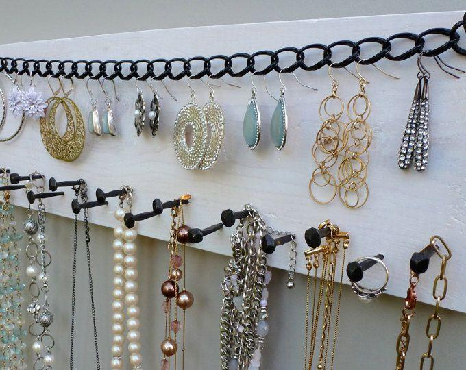 KOSTENLOSER VERSAND! Schmuckständer Halskette Organizer Ohrring Lagerung Display Wand