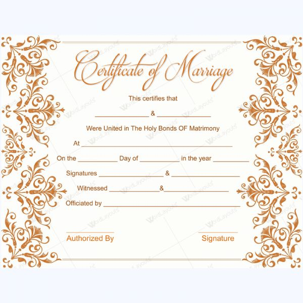 56 best marriage certificate templates images on pinterest blank marriage certificate template marriage certificate template word yadclub Gallery