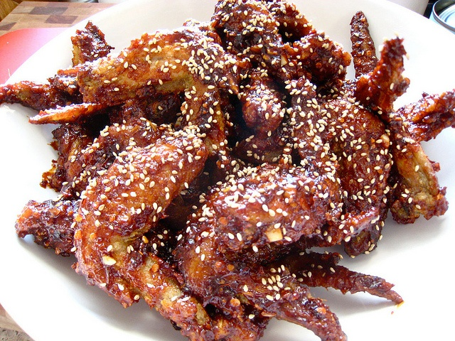 Korean Fried Chicken from: Seasoned fried chicken (Yangnyeom tongdak ...