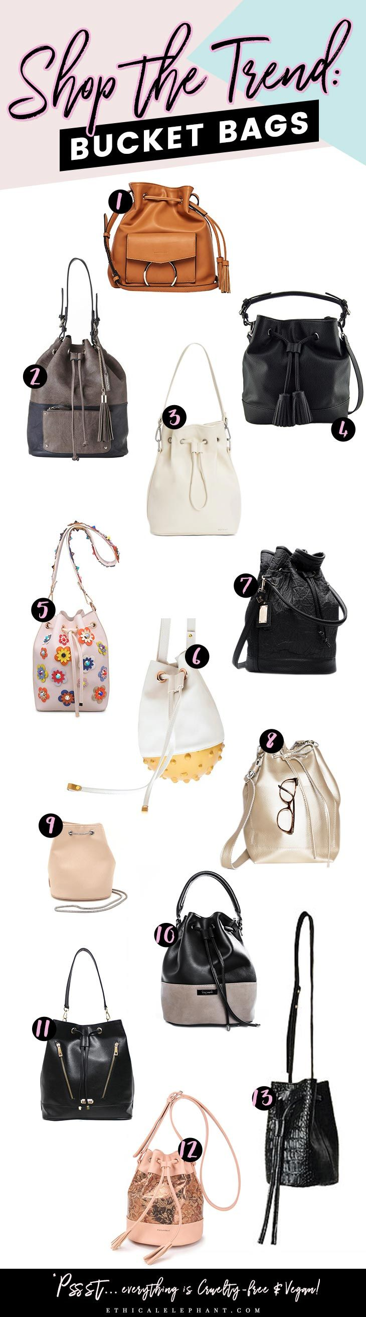 Shop the Trend in cruelty-free & vegan fashion. This week, we talk about vegan bucket bags to staying on trend!