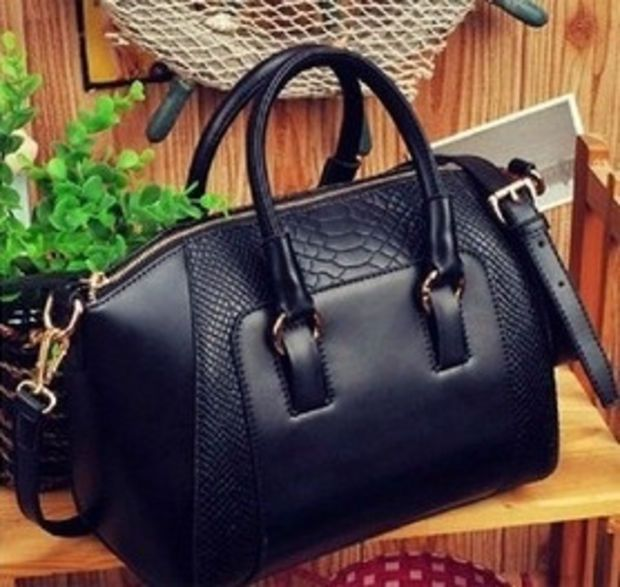 2015 New women handbag fashion brief crocodile pattern shoulder bags women messenger bags women leather handbags leather bags = 1754094724