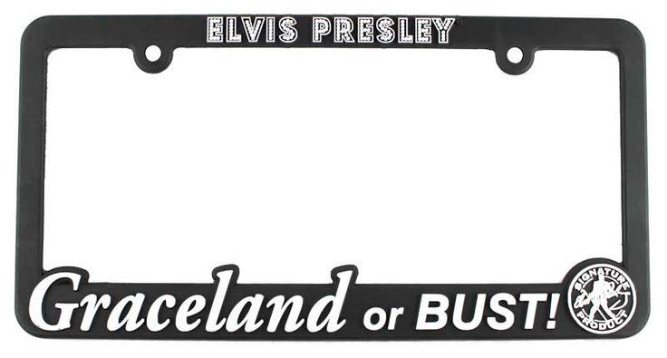 Elvis Car Accessories Elvis Presley License Plate Frame