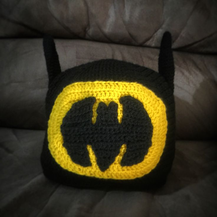 Crochet Batman beanie I made