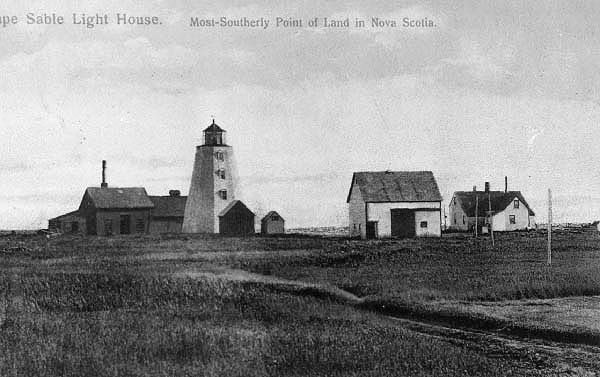 The original Cape Sable Lighthouse, built after a great loss of life in a ship that went down in a storm in 1861. In 1923, this lighthouse was demolished in favour of the current one made of concrete. At 105 feet, the new 90-year old lighthouse is the tallest in Nova Scotia - but it needs your help: http://www.gofundme.com/24kmf8