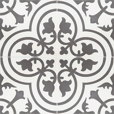 Cement Tiles - Cluny 888 C 8 x 8 Deco - By Granada Tile/ for bath 1. This will be on the floor