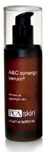PCA Skin A&C Synergy Serum - pHaze 23, 1 oz - helps to treat those with skin discoloration or prone to breakouts. It contains L-ascorbic acid, and four different natural brightening agents to lighten skin, help with cell regeneration, stimulate collagen, minimize lines, refine pores, strengthen skin, reduce inflamation, and firm and tighten the skin. Oil is controlled and bacteria is banished for achieving and maintaining total skin clarity.