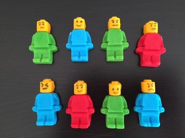 8 Edible Fondant LEGO Men Figure  Cake or Cupcake Toppers Birthday