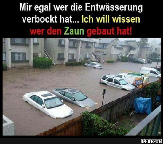 Mir egal wer die Entwässerung verbockt hat.. | Lustige Bilder, Sprüche, Witze, echt lustig