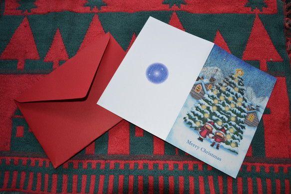 キラキラかわいいクリスマスカードのご案内です☆クリスマス直前に、カードのプレゼント、いかがでしょうか。写真では少々分かりづらいかもしれませんが、カード表紙にキ...|ハンドメイド、手作り、手仕事品の通販・販売・購入ならCreema。