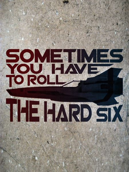 Hard Six Art Print by Stuckey