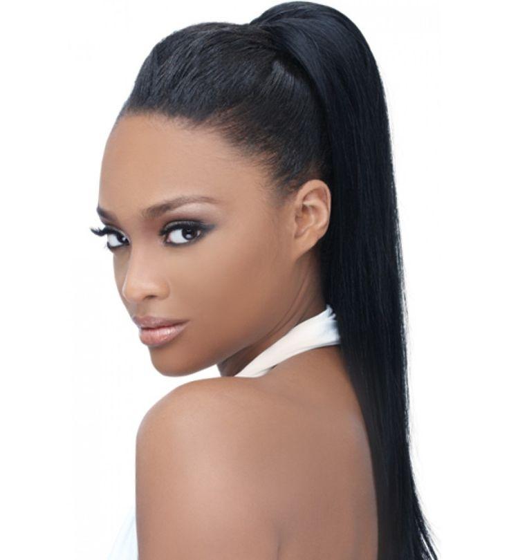 Black Weave Ponytail Hairstyles Black Hair Weave Ponytails Hair Human Wavy
